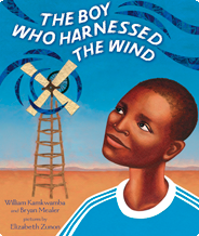 The Boy who harnesses the wind - book cover